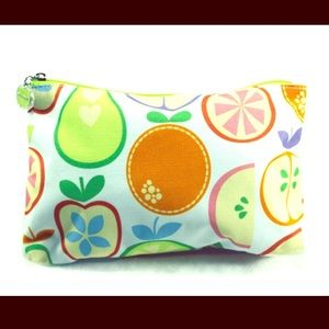 Clinique Handbags - CLINIQUE Fruity White &Multi-color Accessories Bag