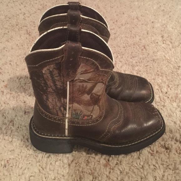 0cca4d5d6d901 Justin Boots Shoes | Justin Camo Kids Cowboy Boots 12d | Poshmark