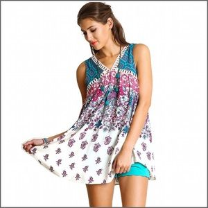 Tops - Paisley Printed Tunic