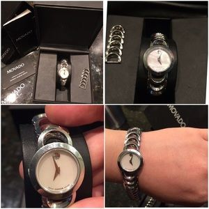 Movado moon bear limited mother of pearl watch