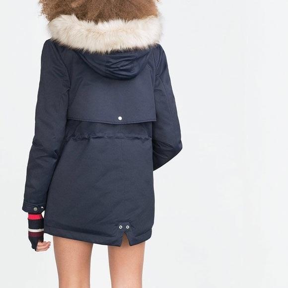 29% off Zara Jackets & Blazers - Zara Short Parka, Navy Blue from ...