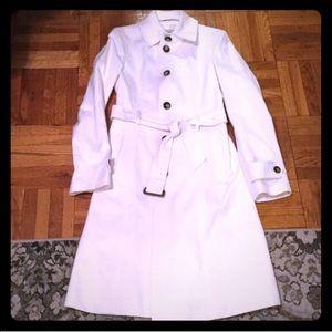 "Burberry London ""Snow White"" Cotton Trench Coat."