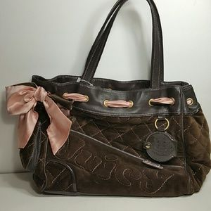 Brown Velvet Juicy Couture bag