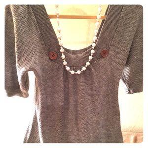 Rue 21 grey short sleeve sweater