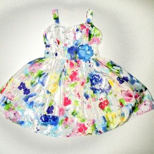 Youngland Other - YOUNGLAND GIRL'S FLORAL PARTY DRESS SIZE 4