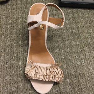 Qupid fringe tassel heels nude size 8.5