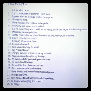 Your Personal Bill of Rights.