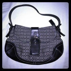 Coach Small C signature Black Hobo Purse
