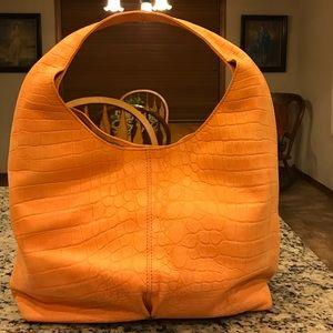 49 square miles leather croc embossed bag