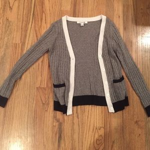 Grey boyfriend cardigan