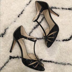 Zara patent leather t-strap heels