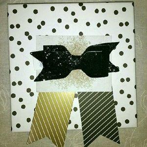 WILA Accessories - {WILA} Black Glitter Bow