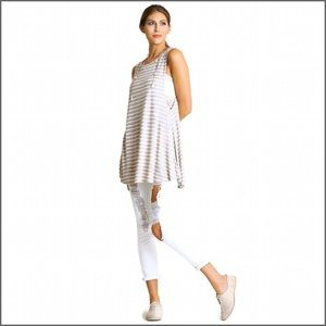 Tops - Striped Low Side Tunic