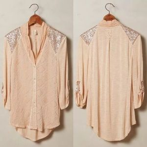 NWOT Anthropologie Leighton Buttondown by Tiny