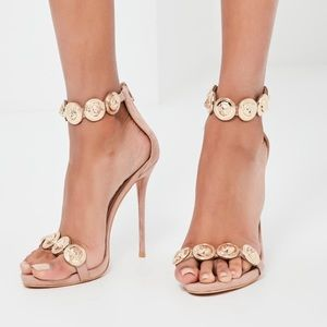 4d329620923e8 Missguided Shoes - ❤SOLD❤ Missguided Peace + Love Nude Heels