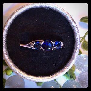 Jewelry - Three Stone Blue Sapphire Ring