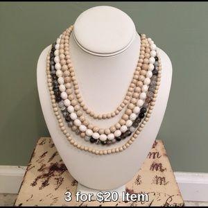 Apt. 9 Jewelry - Apt. 9 Neutral Beaded Necklace