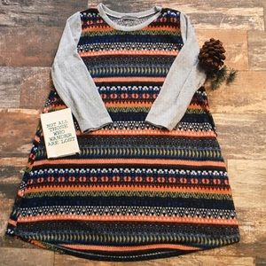Tops - 🍭Gray/rainbow🍭pattern tunic blouse