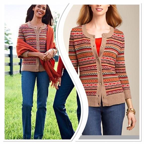 88% off Talbots Sweaters - Talbots fair isle cardigan from E's ...