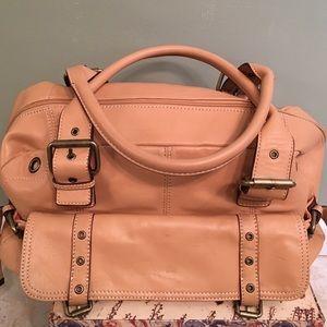Hype Soft Tan Leather Satchel Bag