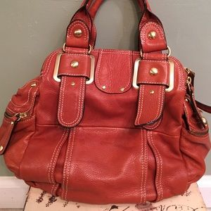 Hype Brown Leather Satchel Bag