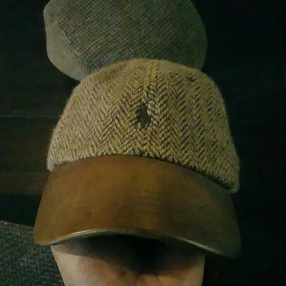 5599add6518 POLO RALPH LAUREN HERRINGBONE CAP W LEATHER BRIM. M 585e912841b4e099ab0044a6
