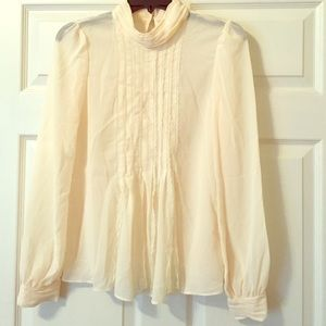 Double Zero Tops - NEVER WORN!! Cream Lace Blouse