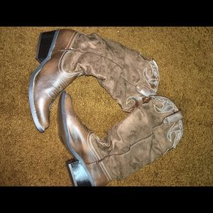 Soda Shoes - Soda Brown and Tan Suede Western Boots