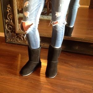 Genuine Suede and Shearling Boots NIB