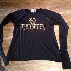 Wildfox black lightweight knit shirt XS