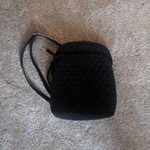 Black Quilted Vera Bradley Mini Backpack