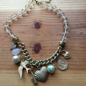 Jewelry - Romantic charm necklace w beads and charms