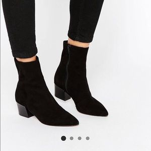 ASOS suede booties size 5