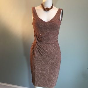 Guess by Marciano Dresses & Skirts - GUESS Taupe Sparkly Bodycon