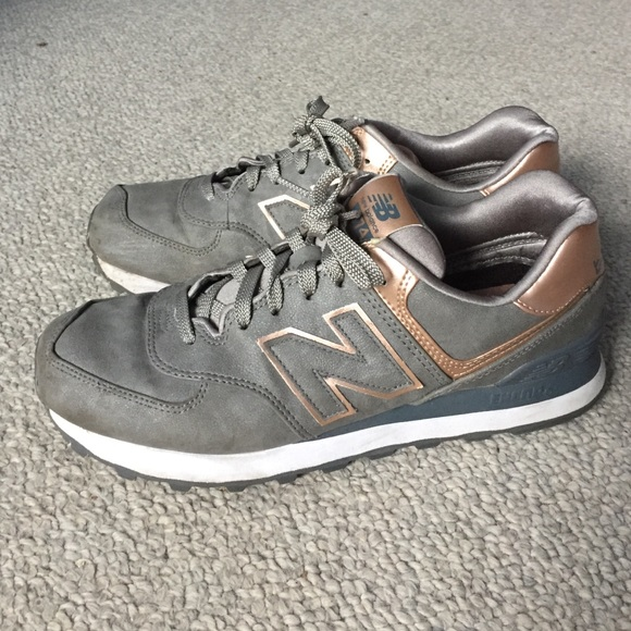 new balance 574 gold rose