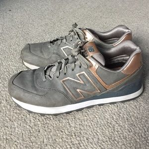 New Balance 574 Grå Rose Gull sl7l8
