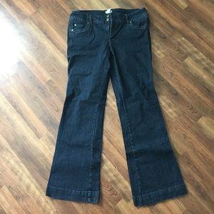 14L Dark Wash Slight Flare Leg Jeans