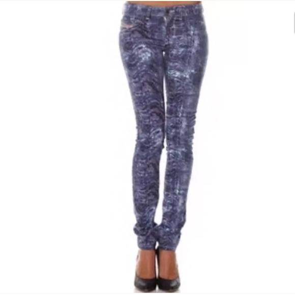 cef077fa Diesel Jeans | 198 Livier Print Jegging Skinny Jean | Poshmark