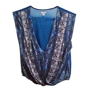 Blue Urban Outfitters boho top