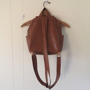 Bags - Faux Leather Backpack