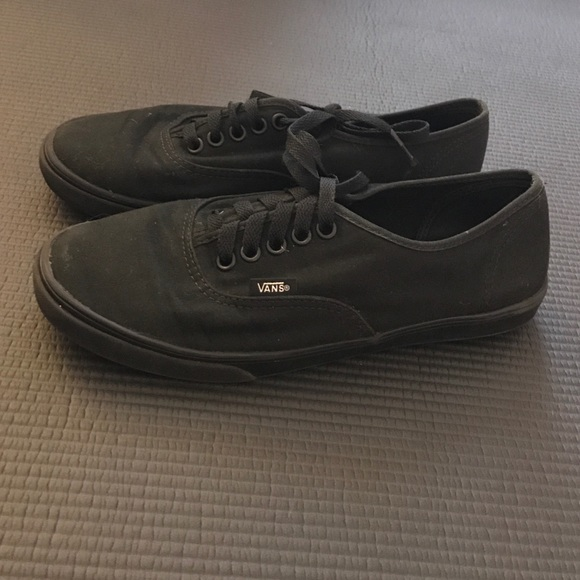 74% off Vans Shoes - Solid Black Vans from Claire's closet on Poshmark