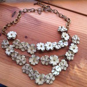 Anne Klein Jewelry - Anne Klein floral enamel triple layer necklace