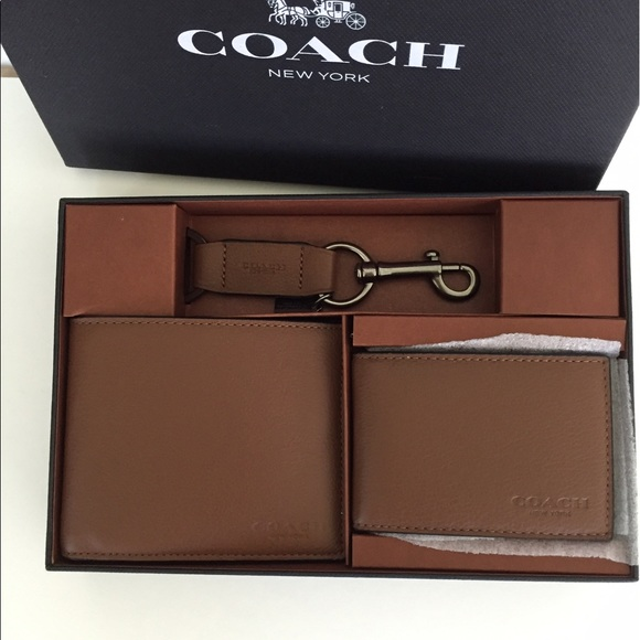 b6f1f01d4ccd COACH MEN S WALLET AND CARD HOLDER GIFT SET