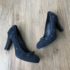 """Coach Shoes - Coach flower pattern 3"""" heels pumps"""
