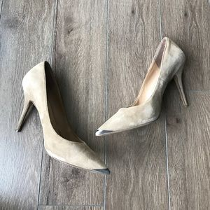 "Dolce Vita Shoes - DV dolce vita suede pointy leather pumps 3"" heels"