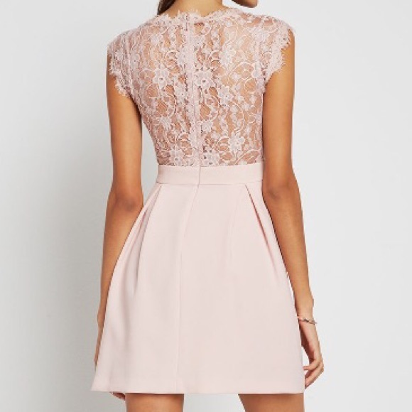 53% off BCBGeneration Dresses & Skirts - BCBG Lace back pleated ...