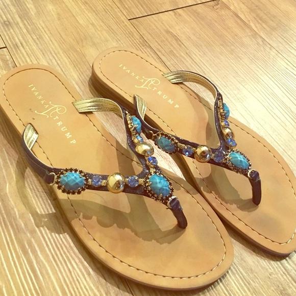 022aa879da84 Ivanka Trump Shoes - Blue jeweled ivanka trump sandals