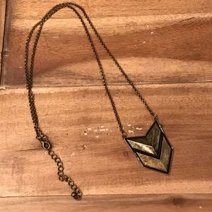 Long Pendant Arrow Necklace