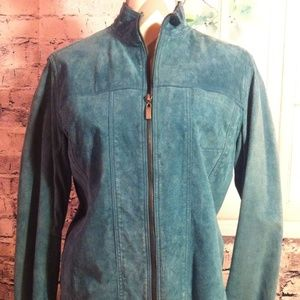 Chico's Jackets & Blazers - Chico's Jade (Green) Suede/Leather Jacket Sale!!