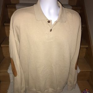 Orvis Other - ORVIS leather elbows casual soft men's sweater XL